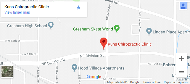 Map of Gresham chiropractors